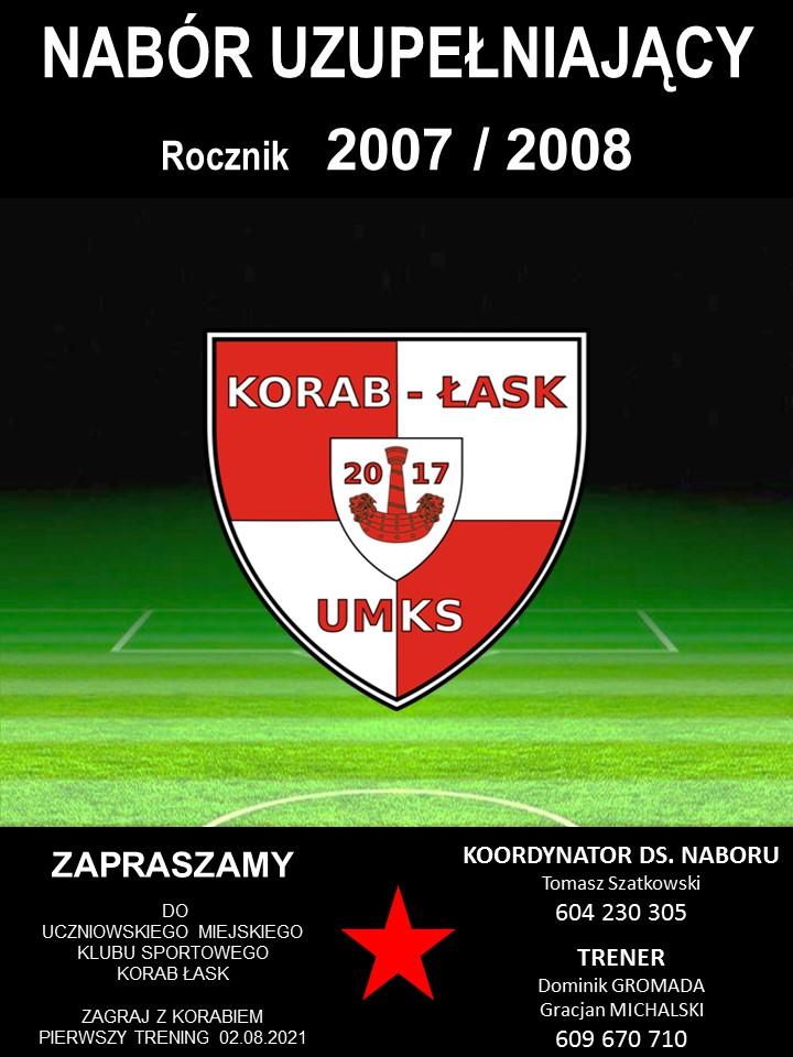 Nabór do UMKS Korab Łask…